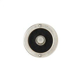 Round Designer Doorbell Button White Bronze Dark with Flower