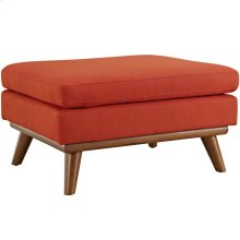 Engage Upholstered Fabric Ottoman in Atomic Red