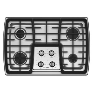 WhirlpoolGold® 30-inch Gas Cooktop with 17,000 BTU Power Burner