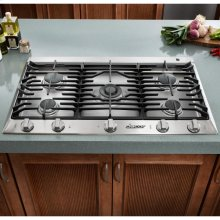 "Distinctive 36"" Gas Cooktop,, in Stainless Steel with Liquid Propane"