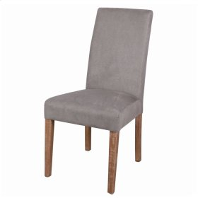 Hartford Fabric Chair Brushed Smoke Legs, Denim Dove