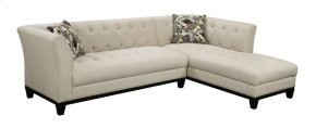 Lsf Sofa-rsf Chaise Cream W/2 Accent Pillows
