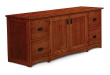 Prairie Mission File Drawer Credenza , Large