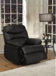 Black Leather Match Recliner Product Image
