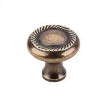 Swirl Cut Knob 1 1/4 Inch - German Bronze