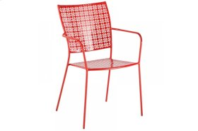 Martini Iron Stackable Bistro Chair - Cherry Pie