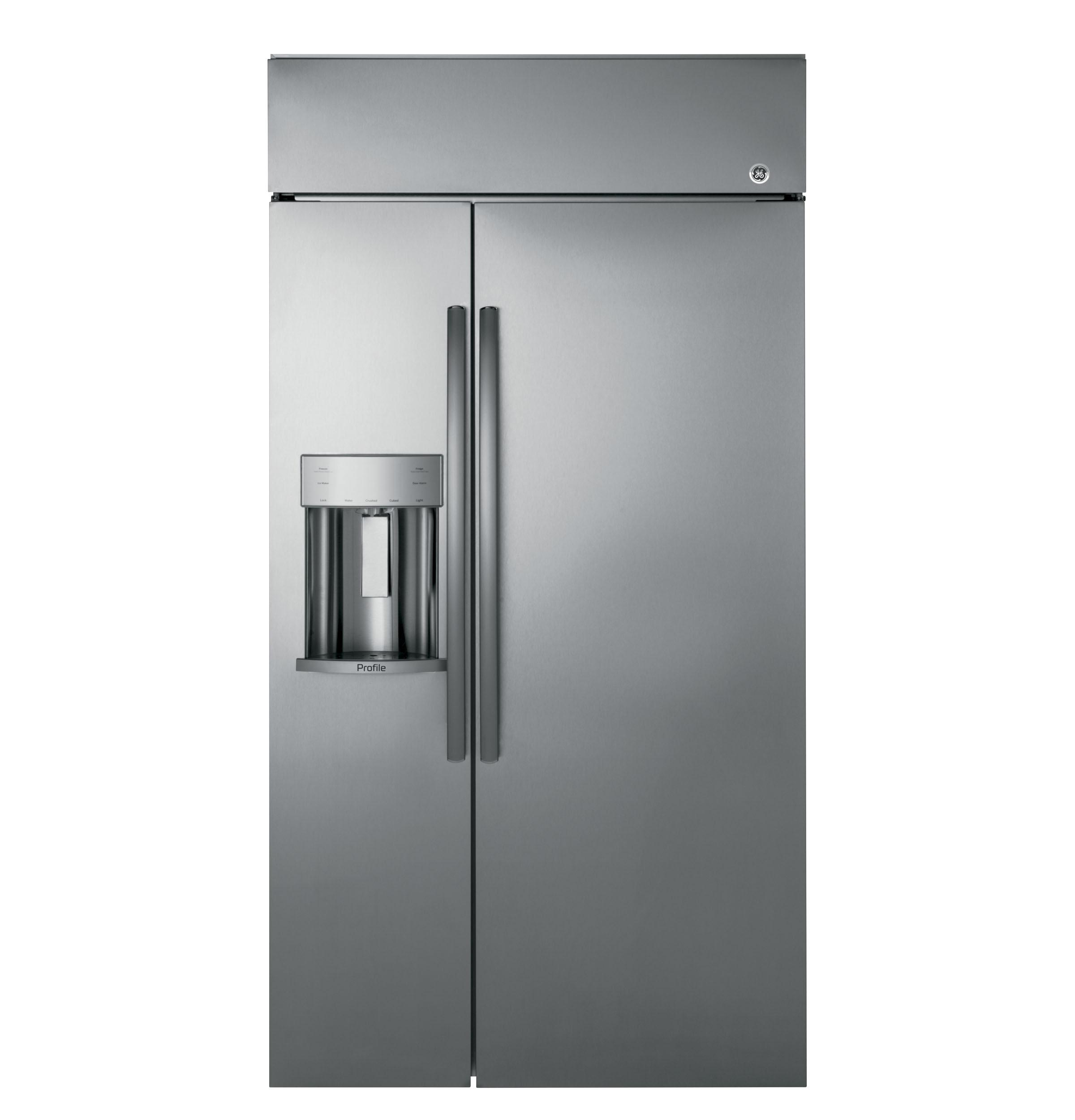 """GE ProfileSeries 42"""" Built-In Side-By-Side Refrigerator With Dispenser"""