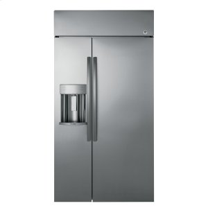 "GE ProfileSeries 42"" Built-In Side-by-Side Refrigerator with Dispenser"