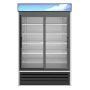 HoshizakiRM-45-SD-HC, Refrigerator, Two Section Glass Door Merchandiser