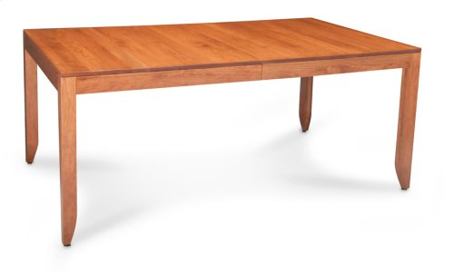 Justine Leg Table, Solid Top