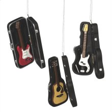 Guitar in Case Ornament (3 asstd).