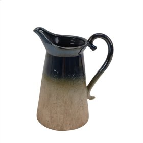 "Ceramic Pitcher, 11"", Multi"