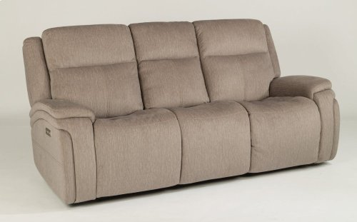 Rocket Fabric Power Reclining Sofa with Power Headrests