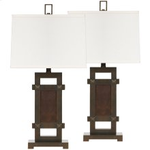Exceptional Designs by Flash Sesen Bronze Poly Table Lamp, Set of 2