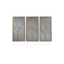Hawthorn Trio Wall Mirror - Gilt