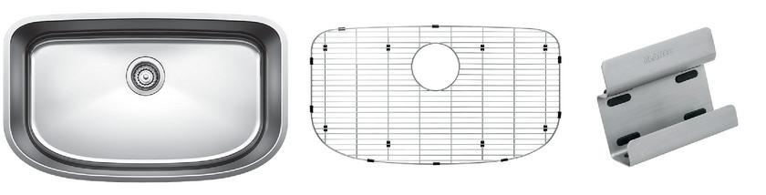 Blanco One Super Single Bowl Kit 1 - Organized - Satin Polished Finish