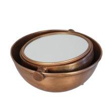 Copper Half Moon Mirror, Adjustable