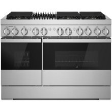 "NOIR™ 48"" Dual-Fuel Professional Range with Gas Grill, NOIR"