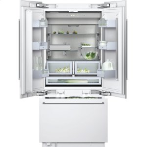 "Gaggenau400 series Three-door bottom freezer with integrated ice maker Fully integrated Width 36"" (91.4 cm)"