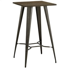 Direct Bamboo Top and Steel Bar Table in Brown