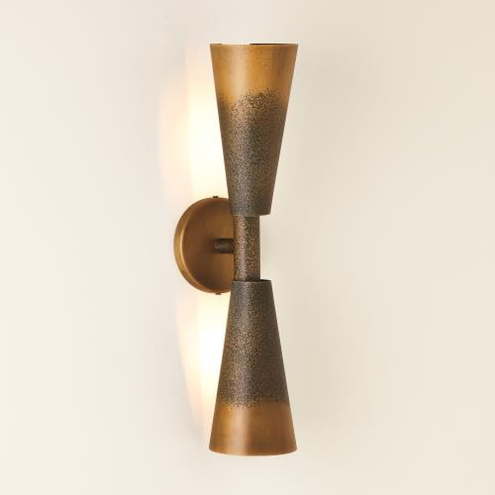 Ombre Trumpet Sconce-Bronze/Gold-HW