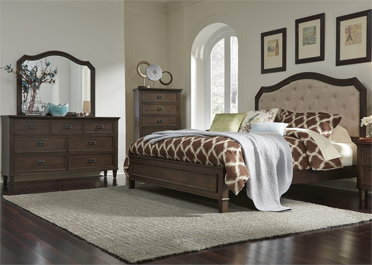 King Panel Bed, Dresser U0026 Mirror, Chest