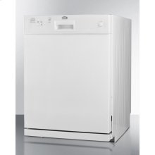 Ada Compliant Dishwasher In White Finish With Stainless Steel Interior