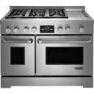 """Pro-Style® Gas Range with Griddle and MultiMode® Convection, 48"""", Pro-Style® Stainless Product Image"""
