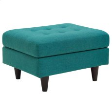 Empress Upholstered Ottoman in Teal Product Image
