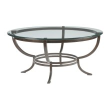 Antique Copper Andress Round Cocktail Table