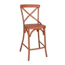 X Back Counter Chair - Orange