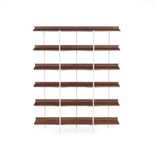 Shelving System 5306 in Toasted Walnut Satin White