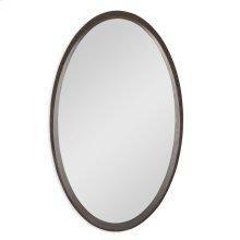 Oval Orbit Mirror - Walnut