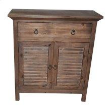 Jackson 2 Shutter Door Rustic Wood Cabinet