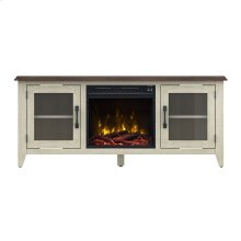 Wilderness Run TV Stand with Electric Fireplace