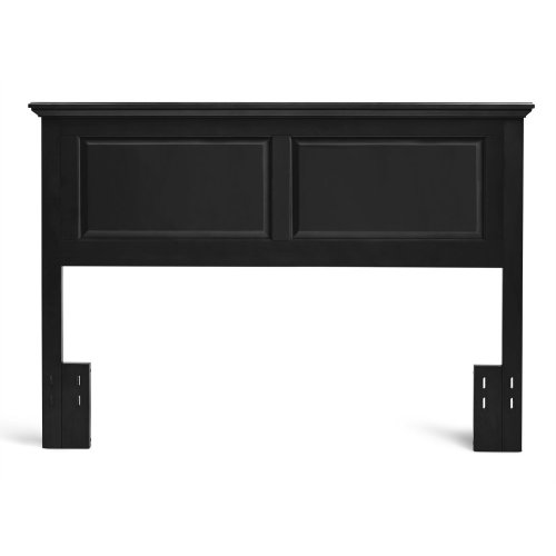 HB45-CE Full/Queen Cottage Style Headboard in Ebony Finish