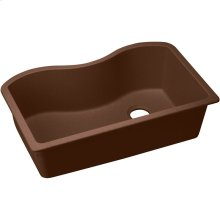 "Elkay Quartz Classic 33"" x 20"" x 9-1/2"", Single Bowl Undermount Sink, Mocha"