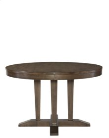 Round Pedestal Table Pewter