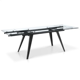 Sharp - Rectangular Glass Top Extension Dining Table