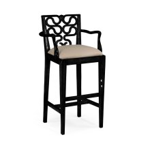 Serpentine Back Barstool (Arm)