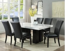 "Camila Black PU Dining chair W/ Nailhead 20""x28""X41"""