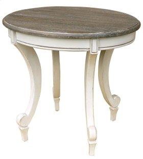 Siena Oval End Table-wht/rw