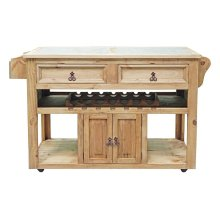 Kitchen Wine Cart Stone Insert