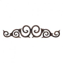 "25"" x 5-3/8"" x 1/2"" Metal (Iron) Onlay. e Hardware Resources, Inc. Finish: Dark Brushed Antique Copper. Mounting Screws (#8x3/4"") Included. Not for outdoor use."