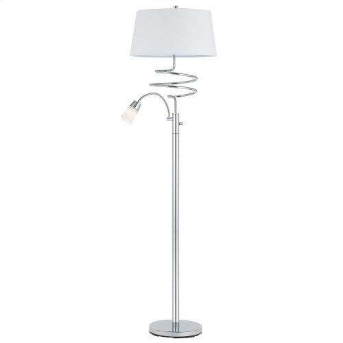 100W Morametal Floor Lamp With 5W LED Reading Lamp