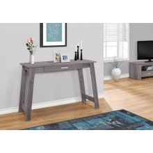 """COMPUTER DESK - 42""""L / GREY WITH A STORAGE DRAWER"""