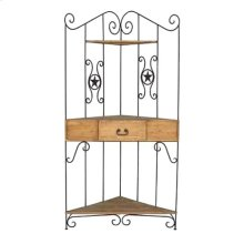 Wrought Iron Corner Rack