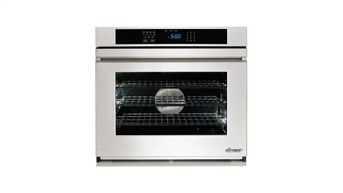 "Renaissance 30"" Single Wall Oven in Black Glass - ships with Epicure Style black handle."