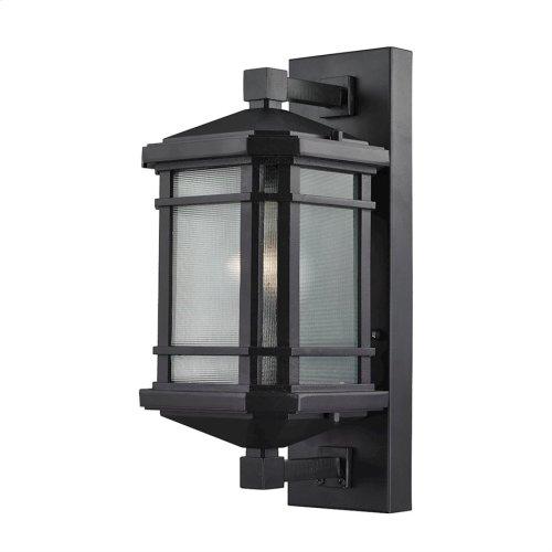 Lowell 1-Light Outdoor Wall Lamp in Matte Black