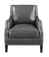 Emerald Home Luigi Chair-charcoal Leather U1211-02-03